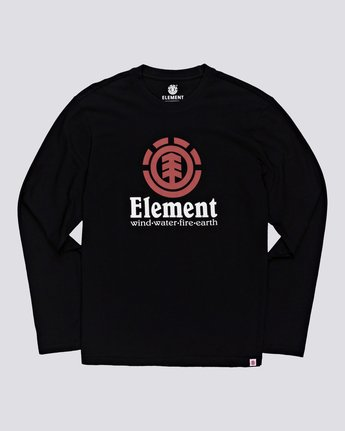 4 Vertical - Long Sleeve T-Shirt Black Q1LSA3ELF9 Element