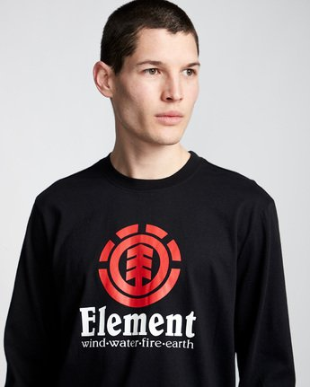 1 Vertical - Long Sleeve T-Shirt Black Q1LSA3ELF9 Element