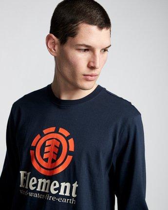 1 Vertical - T-Shirt manches longues pour Homme Bleu Q1LSA3ELF9 Element