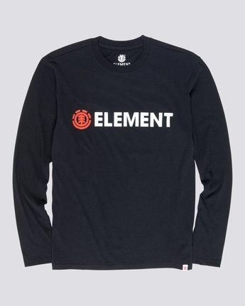 4 Blazin - T-Shirt manches longues pour Homme Noir Q1LSA4ELF9 Element