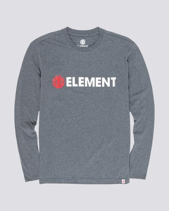 3 Blazin - Long Sleeve T-Shirt for Men Grey Q1LSA4ELF9 Element