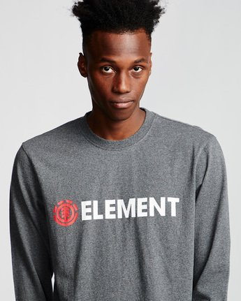 1 Blazin - Long Sleeve T-Shirt for Men Grey Q1LSA4ELF9 Element