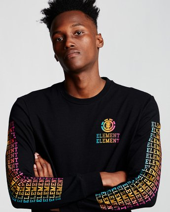 1 Drop - Long Sleeve T-Shirt Black Q1LSA6ELF9 Element