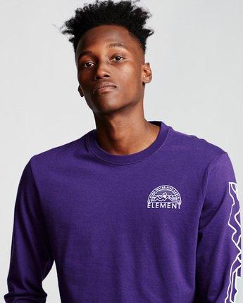 1 Odyssey - Long Sleeve T-Shirt Purple Q1LSA9ELF9 Element