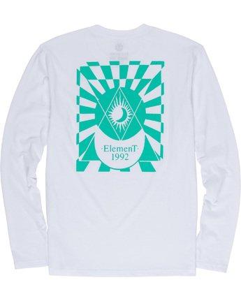 6 Ambience - Maglietta a Maniche Lunghe da Uomo White Q1LSB2ELF9 Element