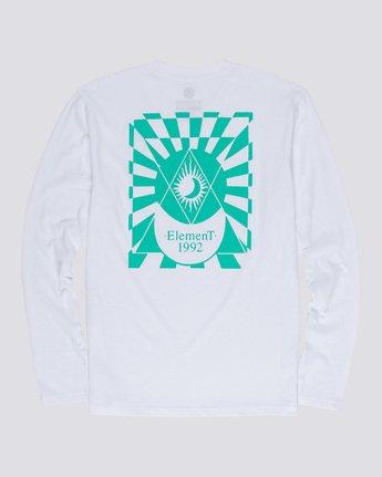 4 Ambience - Maglietta a Maniche Lunghe da Uomo White Q1LSB2ELF9 Element