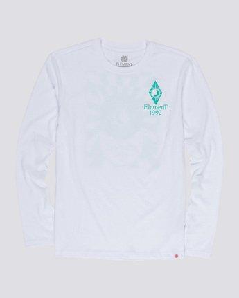 3 Ambience - Maglietta a Maniche Lunghe da Uomo White Q1LSB2ELF9 Element