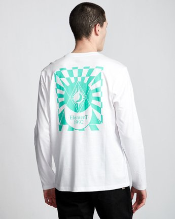 2 Ambience - Maglietta a Maniche Lunghe da Uomo White Q1LSB2ELF9 Element