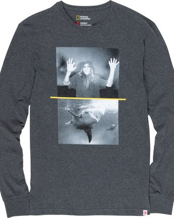 4 Shark Fletcher - Long Sleeve T-Shirt Grey Q1LSB5ELF9 Element