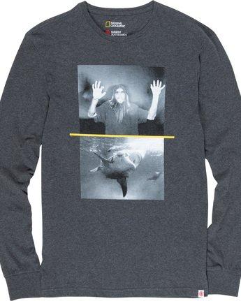 4 Shark Fletcher - Long Sleeve T-Shirt Grey Q1LSB5ELF9 Element