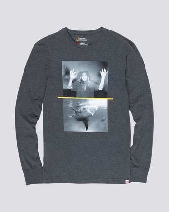 3 Shark Fletcher - Long Sleeve T-Shirt Grey Q1LSB5ELF9 Element
