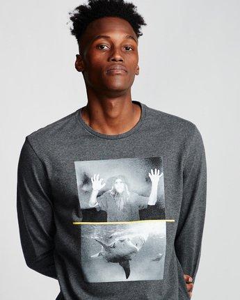 1 Shark Fletcher - Long Sleeve T-Shirt Grey Q1LSB5ELF9 Element