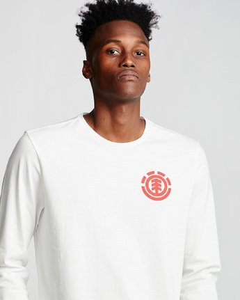 1 Unison - Long Sleeve T-Shirt White Q1LSB8ELF9 Element