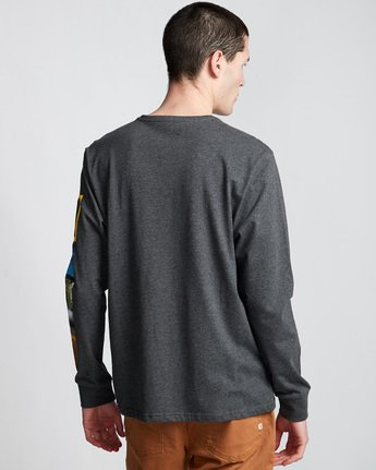 1 Stockade - Long Sleeve T-Shirt Grey Q1LSB9ELF9 Element
