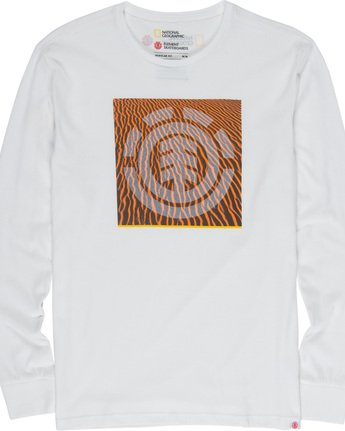 4 Dunes Icon - Long Sleeve T-Shirt White Q1LSC2ELF9 Element