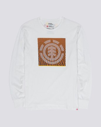 3 Dunes Icon - Long Sleeve T-Shirt White Q1LSC2ELF9 Element