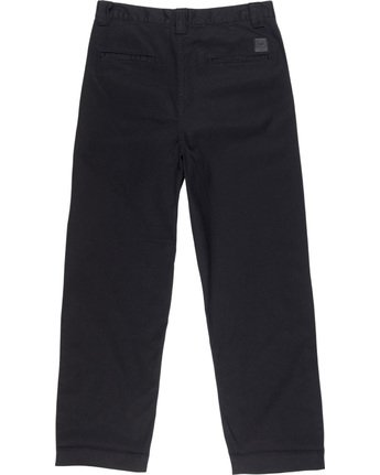 3 Big Chino - Wide Leg Trousers for Men Black Q1PTA5ELF9 Element