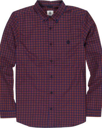 4 Icon Gingham - Camiseta de manga larga para Hombre Negro Q1SHA2ELF9 Element