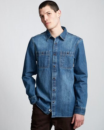 Pace Denim - Long Sleeve Shirt  Q1SHA6ELF9