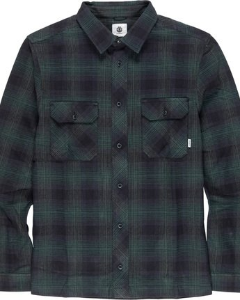 4 Wentworth Shadow - Camicia a Maniche Lunghe da Uomo Green Q1SHA7ELF9 Element