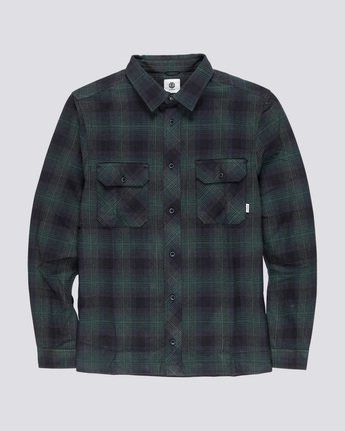 3 Wentworth Shadow - Camicia a Maniche Lunghe da Uomo Green Q1SHA7ELF9 Element