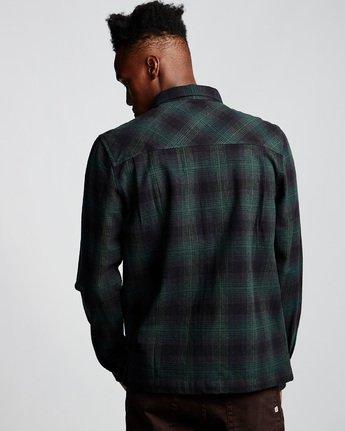 2 Wentworth Shadow - Camicia a Maniche Lunghe da Uomo Green Q1SHA7ELF9 Element