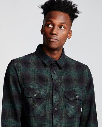1 Wentworth Shadow - Camicia a Maniche Lunghe da Uomo Green Q1SHA7ELF9 Element