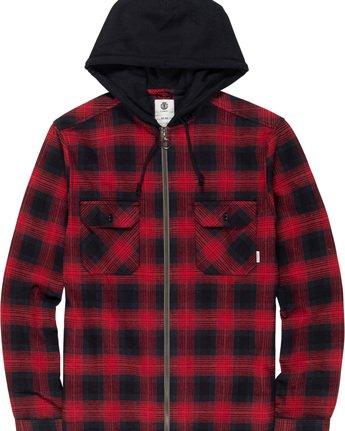4 Wentworth Shadow - Chemise à capuche et manches longues pour Homme Rouge Q1SHA8ELF9 Element