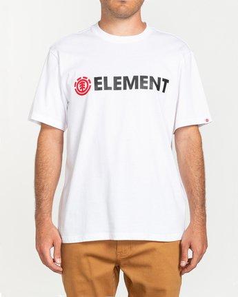 1 Blazin - Short Sleeve T-Shirt for Men White Q1SSA6ELF9 Element