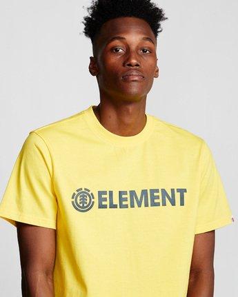 1 Blazin - Maglietta a maniche corte da Uomo Yellow Q1SSA6ELF9 Element