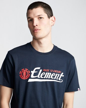 1 Signature - Maglietta da Uomo Blue Q1SSA9ELF9 Element