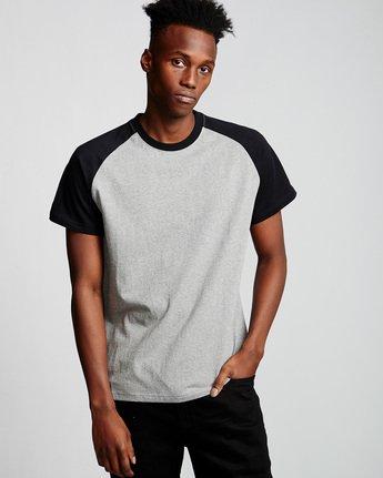 0 Basic Raglan - T-Shirt Grey Q1SSC3ELF9 Element