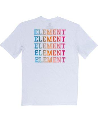 6 Drop - Maglietta da Uomo White Q1SSE4ELF9 Element