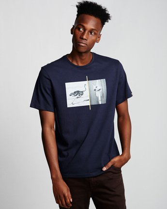 0 Ostrich Apse - T-Shirt Blue Q1SSF2ELF9 Element