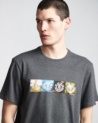 1 Horizontal Seasons - T-Shirt Grey Q1SSG2ELF9 Element