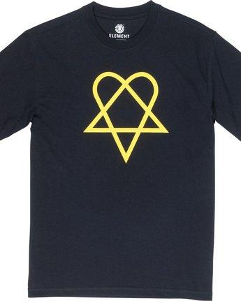 5 Margera - T-Shirt Black Q1SSG8ELF9 Element