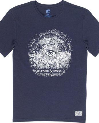 4 Too Late Stump - Maglietta da Uomo Blue Q1SSH6ELF9 Element