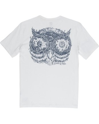 6 In The Owl - T-Shirt White Q1SSH8ELF9 Element