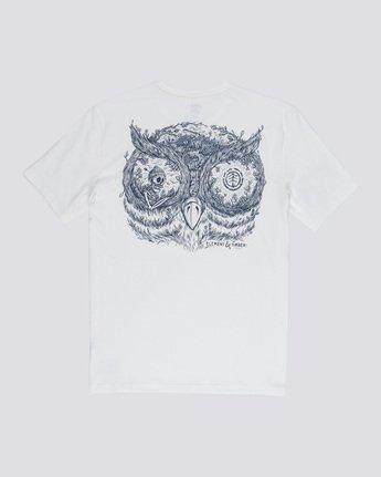 4 In The Owl - T-Shirt White Q1SSH8ELF9 Element