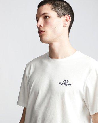 1 In The Owl - T-Shirt White Q1SSH8ELF9 Element
