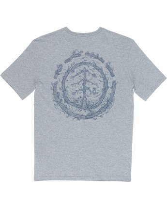 6 Too Late Logo - T-Shirt Grey Q1SSH9ELF9 Element