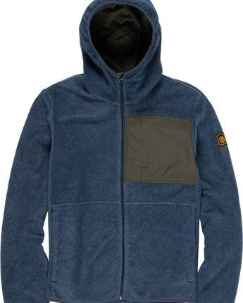 1 Windrift - Felpa con cappuccio e zip da Uomo Blue Q1WAA7ELF9 Element