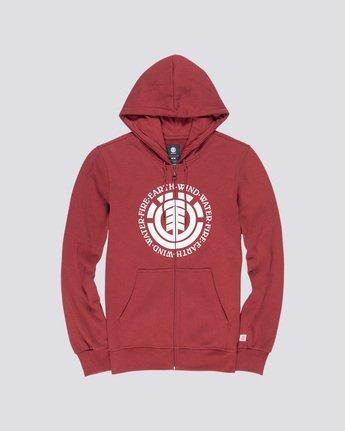 3 Seal - Zip-Up Hoodie Red Q1ZHA2ELF9 Element