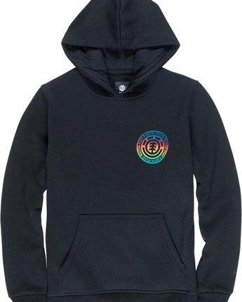 2 Seal Gradient Boy - Felpa con cappuccio da Ragazzo Black Q2HOA8ELF9 Element
