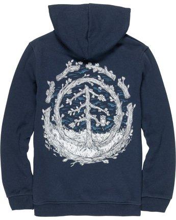 3 Too Late Logo Boy - Sweatshirt Blue Q2HOB1ELF9 Element