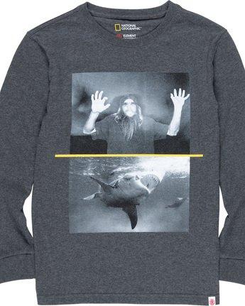 1 Shark Fletcher Boy - Long Sleeve T-Shirt Grey Q2LSA9ELF9 Element