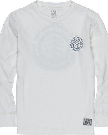 2 Too Late Logo Boy - Long Sleeve T-Shirt White Q2LSB5ELF9 Element