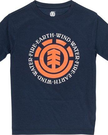1 Seal - T-Shirt manches courtes pour Garçon Bleu Q2SSA4ELF9 Element