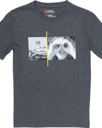 1 Hawk Smith Boy - T-Shirt Grey Q2SSC5ELF9 Element