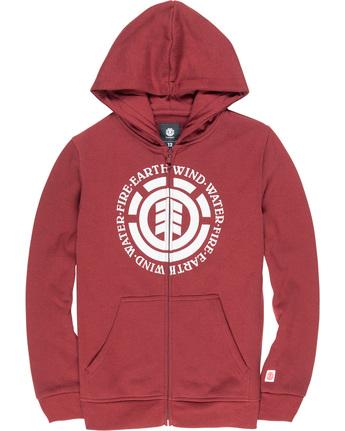 1 Seal Boy - Sudadera con capucha y cremallera para Chicos Rojo Q2ZHA2ELF9 Element
